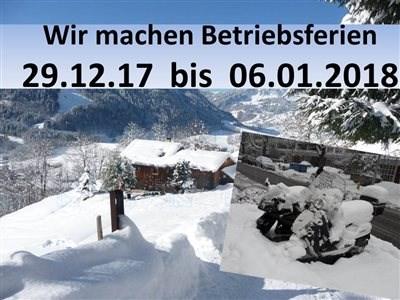 Betriebsferien / Neujahrgrüße