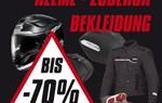 Helme - Zubehör - Bekleidung bis zu 75 % reduziert !!!