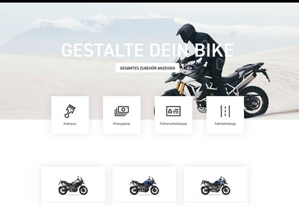 Triumph configurator 'Build' your Motorcycle