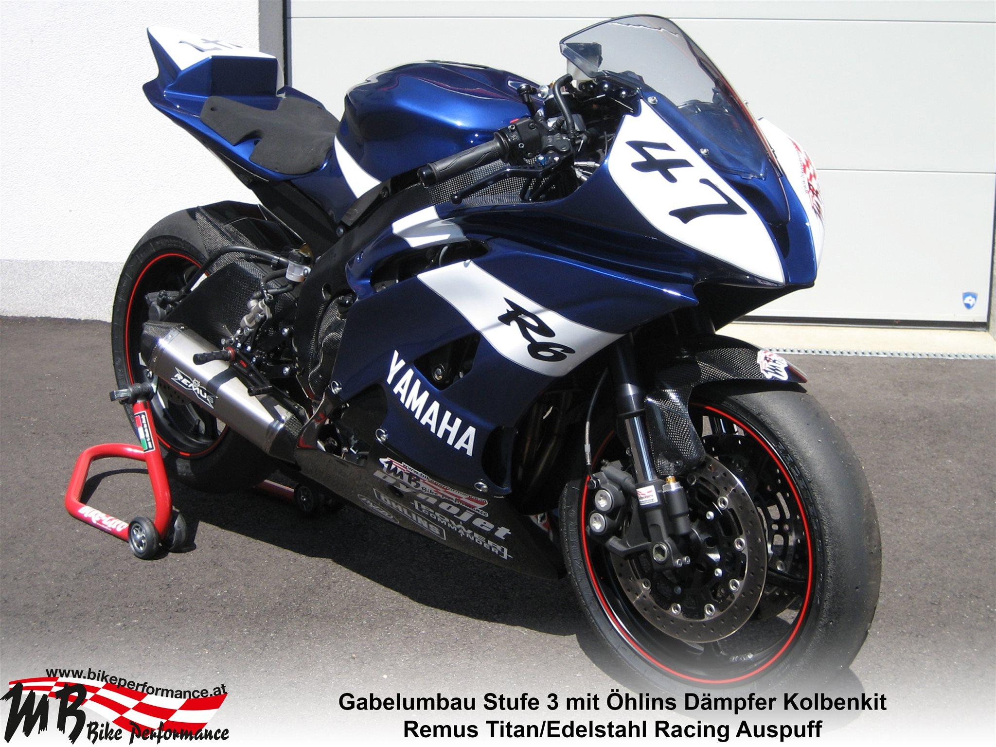 umgebautes motorrad yamaha yzf r6 von mb bike performance gmbh. Black Bedroom Furniture Sets. Home Design Ideas