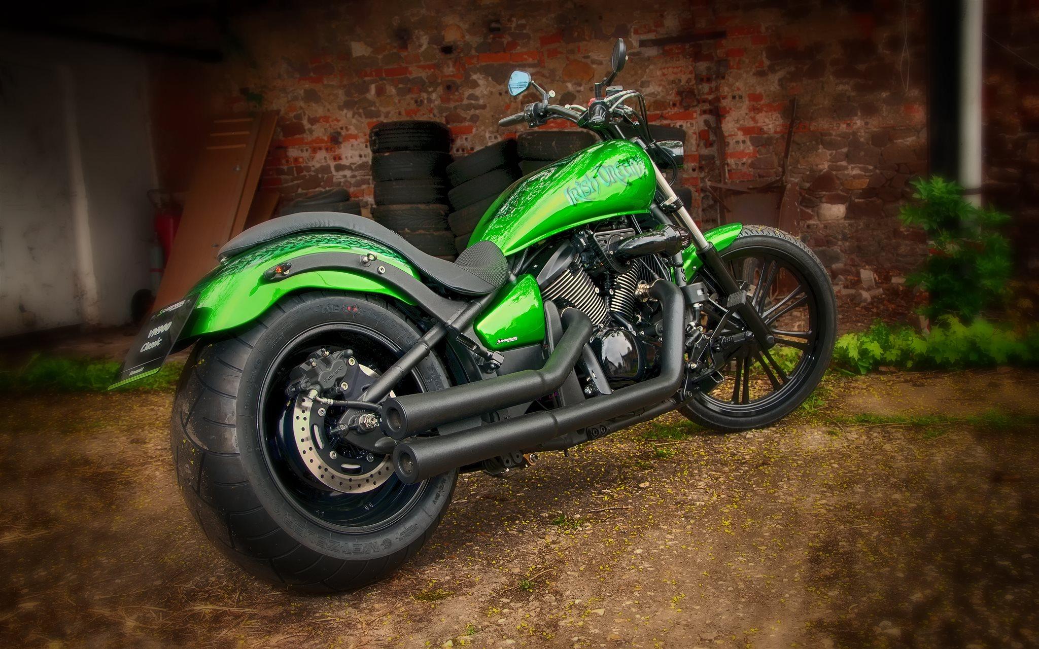 umgebautes motorrad kawasaki vn 900 custom von motorradsport schadenberg gbr. Black Bedroom Furniture Sets. Home Design Ideas