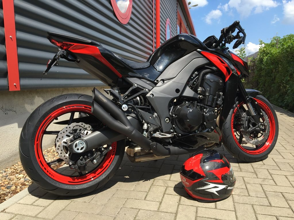 umgebautes motorrad kawasaki z 1000 von bikerworld rosenow. Black Bedroom Furniture Sets. Home Design Ideas