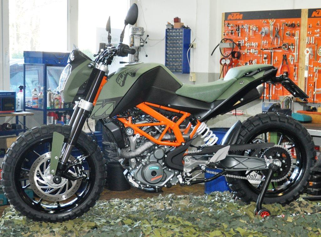 details zum custom bike ktm 390 duke des h ndlers motobike. Black Bedroom Furniture Sets. Home Design Ideas